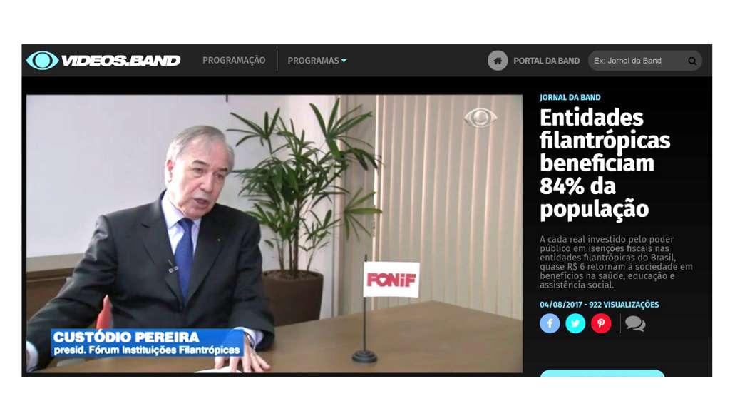 FONIF é destaque no Jornal da Band