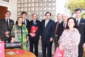 Líderes da filantropia se reúnem com presidente da Câmara, Rodrigo Maia, e deputado federal Baleia Rossi